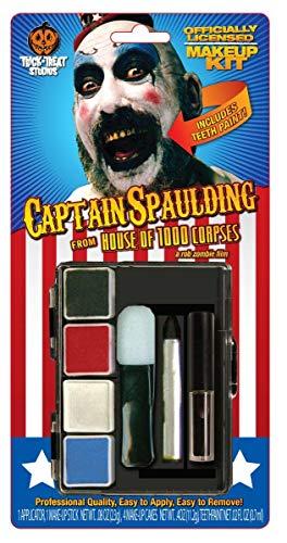 Captain Spaulding Costume (Trick or Treat Studios Men's House Of 1 000 Corpes-Captain Spaulding Makeup Kit, Multi, One)