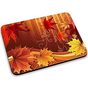 Otoño 10008, Hojas de Arce, Designer Alfombrilla de Ratón Mouse Mouse Pad con Diseño Colorido. Tamaño 250 x 190 mm.