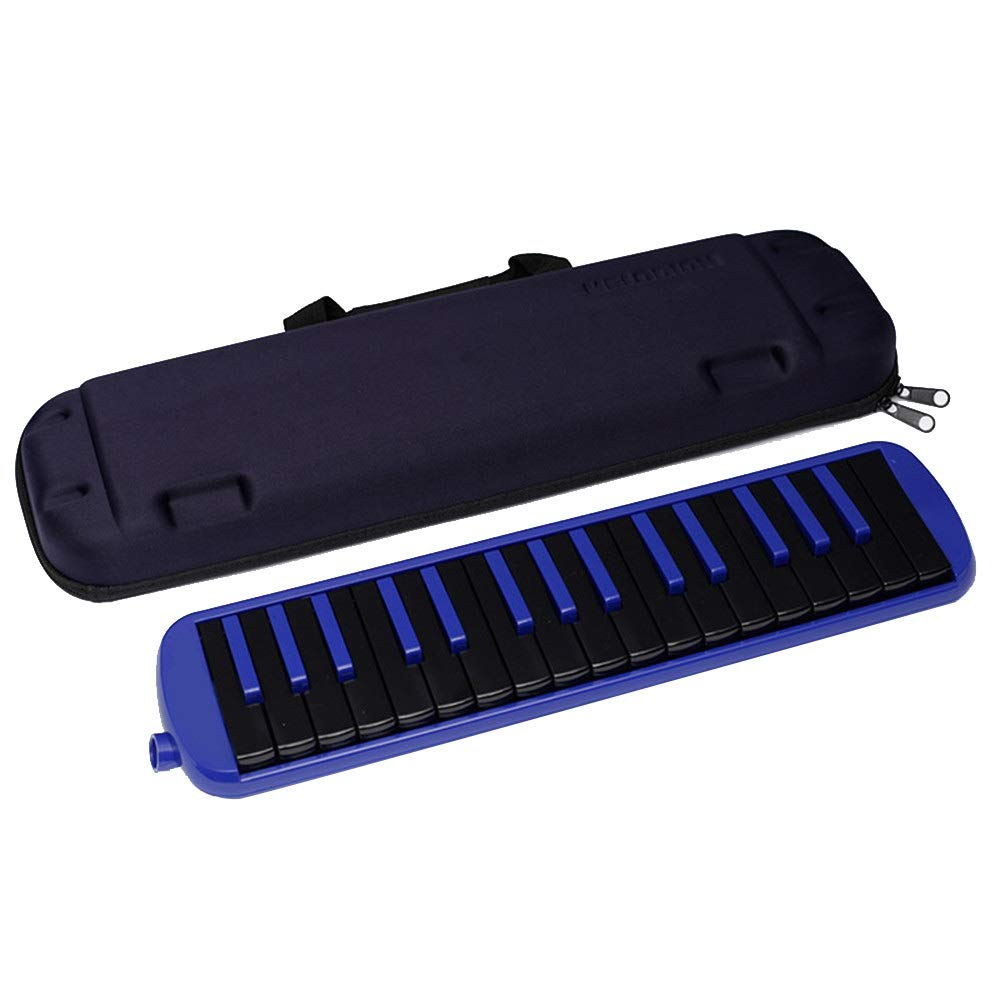 Melodica Musical Instrument Portable Piano Style Kids Melodica 32 Keys Musical Instrument Gift Toys For Music Lovers Beginners With Mouthpieces Tube Sets Carrying Bag Black Red Blue For Music Lovers B