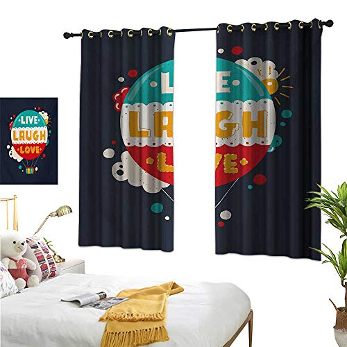 (Superlucky Customized Curtains,Live Laugh Love,63
