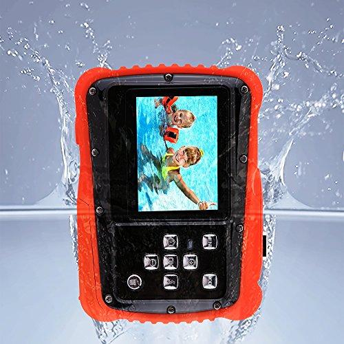 Kids Camera 12MP HD Children Underwater 3M Waterproof Action Camera Camcorder 2-Inch LCD, 4x Digital Zoom, Mic 9.9 ft Waterproof Digital Camera Birthday Holiday Gift Learn Camera by LIJIE-