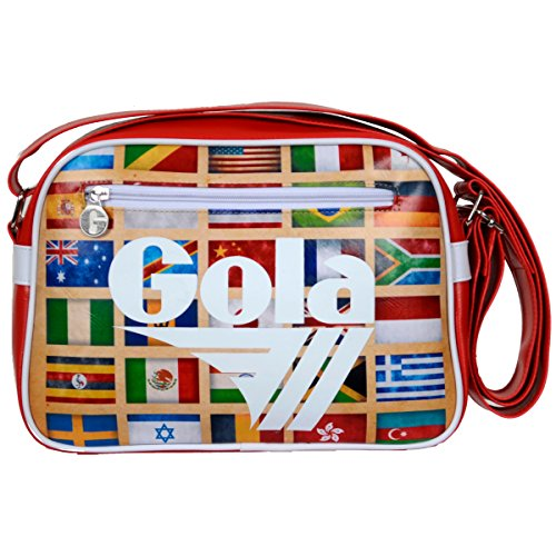 Borsa Gola Mini Redford ZCUB235RW 28x20x5.5 - Dark Red/White - Multi Nations