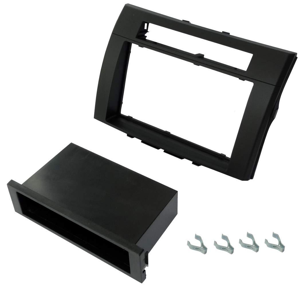 Adaptateur Autoradio Fa/çade Cadre R/éducteur Noir 1//2DIN pour Auto Voiture C40978 AERZETIX