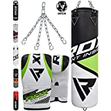 RDX Punch Bag Heavy Boxing 4FT 5FT UNFILLED MMA Kickboxing Punching Bags Training Gloves