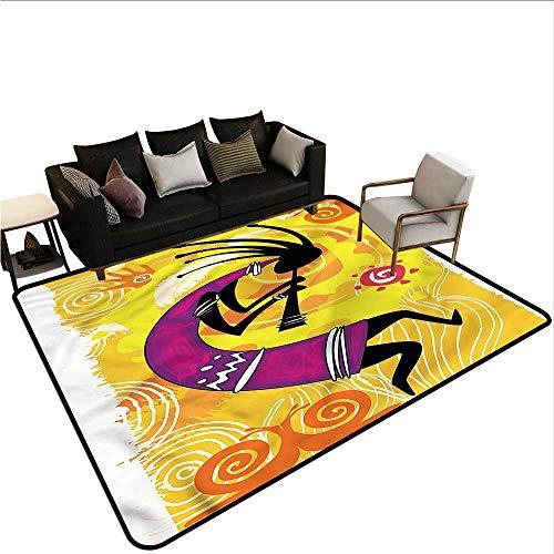 - Kokopelli,Door Mat Living Room Non-Slip 36