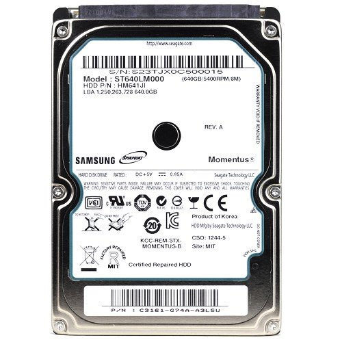 Samsung Refurb ST640LM001 SpinPoint 640GB SATA 300Mbps 5400RPM 8MB 2.5 Inch HDD