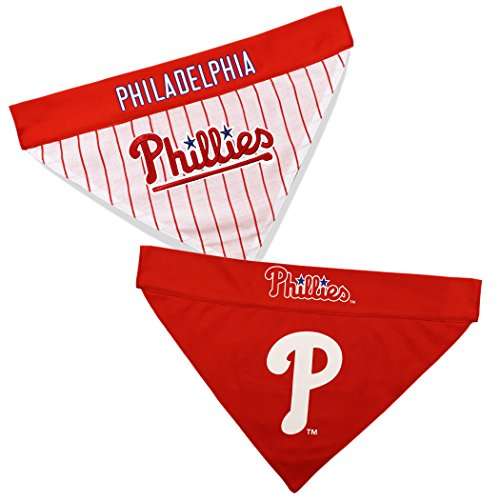 Pets First PHP-3217-L-XL MLB Philadelphia Phillies Reversible Pet Bandana, Large/X-Large, MLB Team Color]()