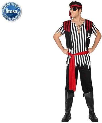 Atosa-26593 Atosa-26593-Disfraz Pirata-Adulto Hombre, Color ro, M ...