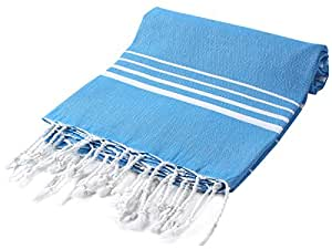 CACALA Paradise Series Turkish Bath Towels – Traditional Peshtemal Design for Bathrooms, Beach, Sauna – 100% Natural Cotton, Ultra-Soft, Fast-Drying, Absorbent – Warm, Rich Colors with Stripes