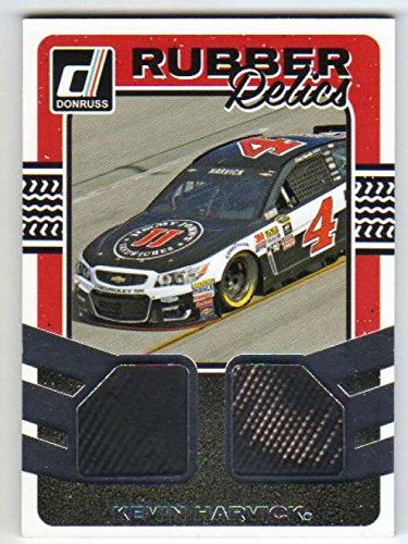 (2017 Donruss Racing Dual Rubber Relics Race Used Tire #10 Kevin Harvick )
