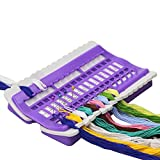 D&D Embroidery Floss Organizer, Plastic & Foam, Purple, 6.9 4.3 0.9 inches
