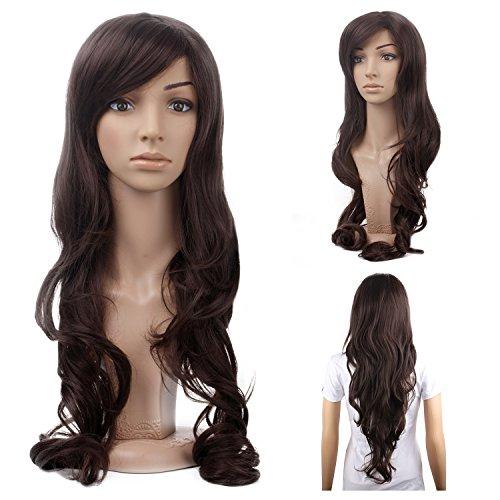 MelodySusie Dark Brown Curly Wig product image