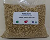 Whole Oats 10 lbs (ten pounds) Groats, Hulled, USDA Certified Organic, Non-GMO, BULK.
