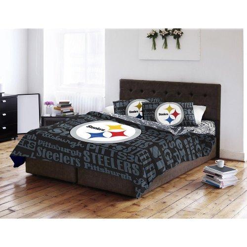 NFL Twin/Full Printed Comforter - Pittsburgh Steelers (Pittsburgh Steelers Comforter Twin)
