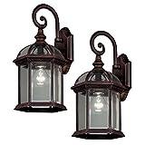 Cheap Hampton Bay 7072-2RT Twin Pack 1-Light Weathered Bronze Outdoor Lantern