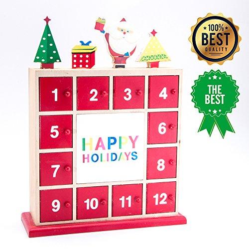 Xmas Calendars (Christmas Decorations Advent Wood Desk Calendar 12.5