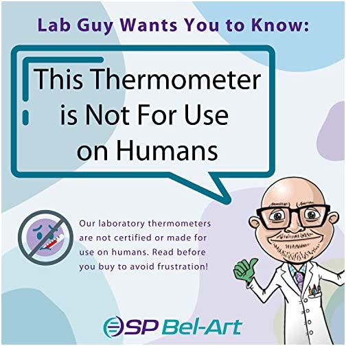 SP Bel-Art, H-B DURAC Plus General Purpose Liquid-In-Glass Laboratory Thermometer; -40 to 120F, Total Immersion, Organic… |