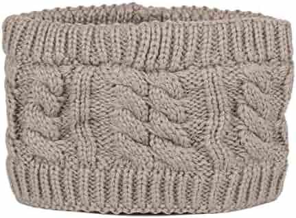 edae5e9749b769 Flammi Knit Turban Headband Twisted/Crossed Head Wrap Ear Warmer for Women  Girls