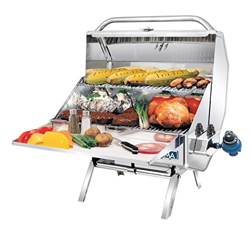 Magma Products, A10-1218-2 Catalina 2 Gourmet Series Gas Grill, Polished Stainless Steel (Magma Top Mount)