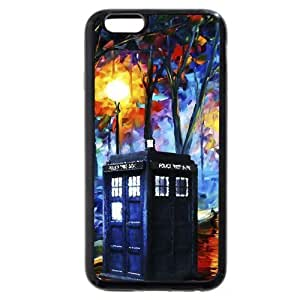 UniqueBox - Customized Black Soft Rubber(TPU) iPhone 6 4.7 Case, Doctor Who Tardis Blue Police Call Box iPhone 6 case, Only fit iPhone 6(4.7 Inch) by ruishername