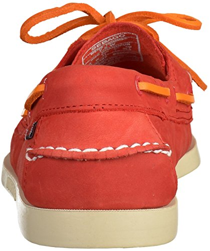 Sebago MenS MenS Docksides Red Nubuck Leather Shoes Leather Red
