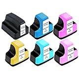 Virtual Outlet ® 6 Pack Compatible Inkjet Cartridges for HP 02 02XL HP02 HP02XL, C8721W C8771W C8772W C8773W C8774W C8775W Compatible with HP Photosmart 8250, 3210, 3310, C5180, C6180, C7180, D7160, D7360, 3110, C6280, C7280, C5150, C8180, D7260, C7250, D7460, C5100, C5140, C5175, C5183, C5185, C5188, C5190, C6100, C6150, C6175, C6183, C6185, C6188, C6200, C6240, C6250, C6270, C6275, C6283, C6285