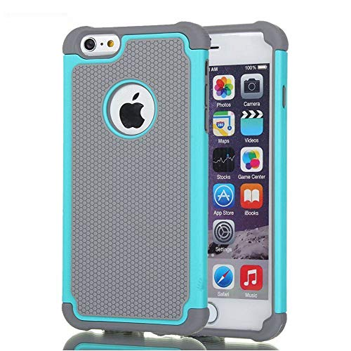 AGRIGLE Shock-Absorption Anti-Scratch Heavy Duty Dual Layer Protective Case Compatible iPhone 6 Plus / 6s Plus 5.5'' (Teal)