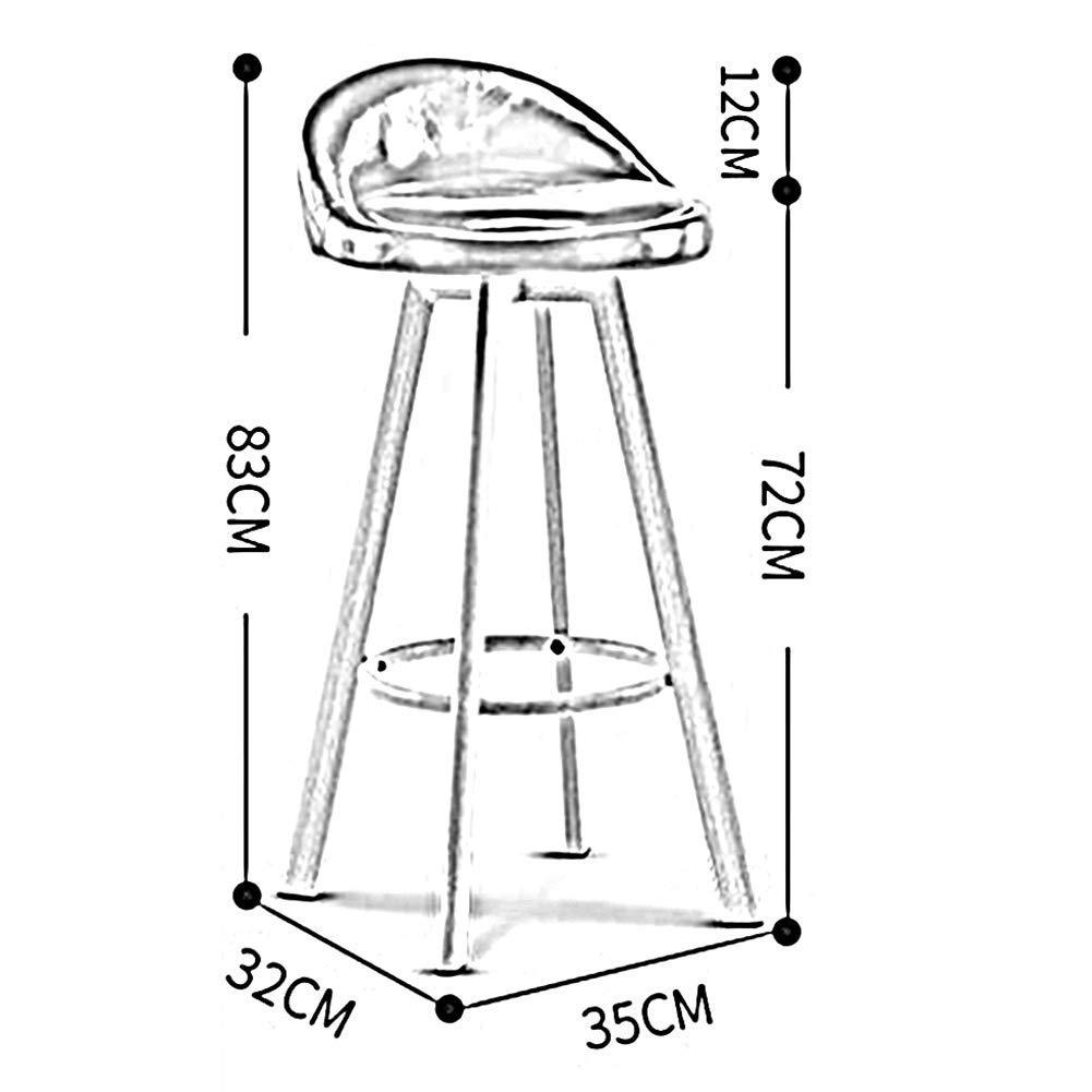 JIEER-C Fritidsstolar barstol hög pall frontpall enkel retro fast höjd matstolar kök hållbar stark T6
