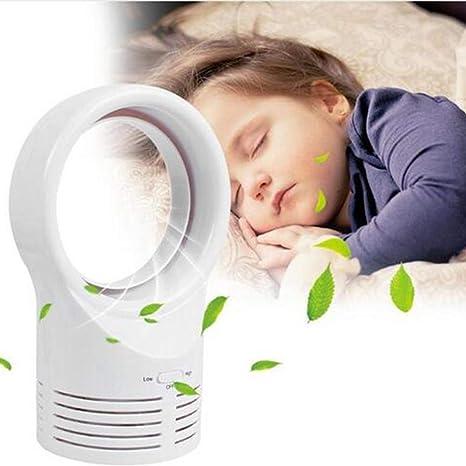 Fan Mini Ventilador sin Cuchillas para bebé Dormir Ventilador ...