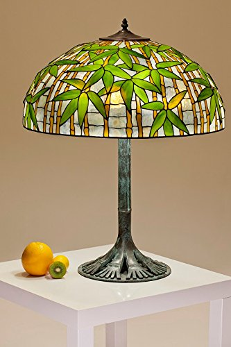 22u0026quot; Bamboo Lamp. Tiffany Stained Glass Handmade ...