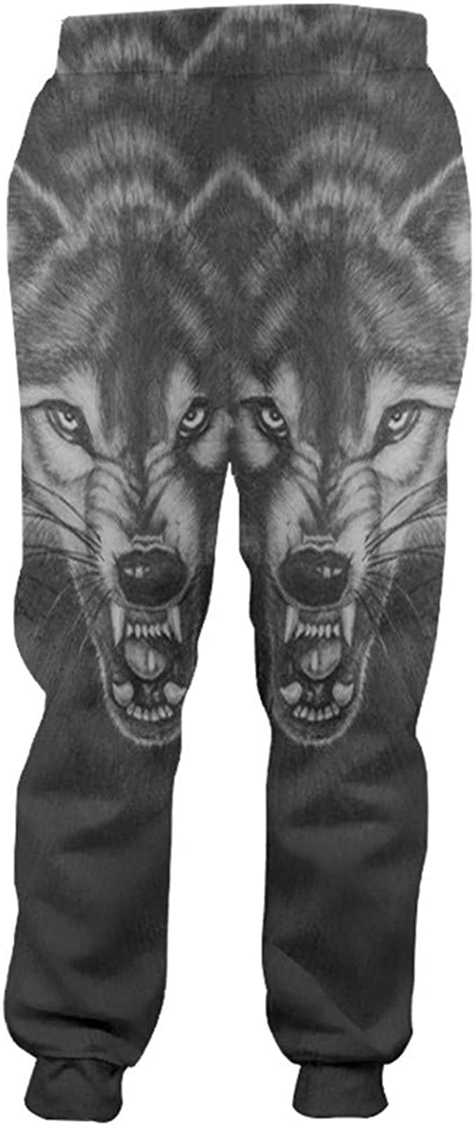Pantalones de chándal Negros y Blancos de Animales para Hombre ...