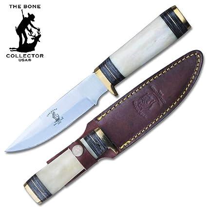 Amazon.com: BC 801 - Cuchillo de caza con mango de hueso de ...