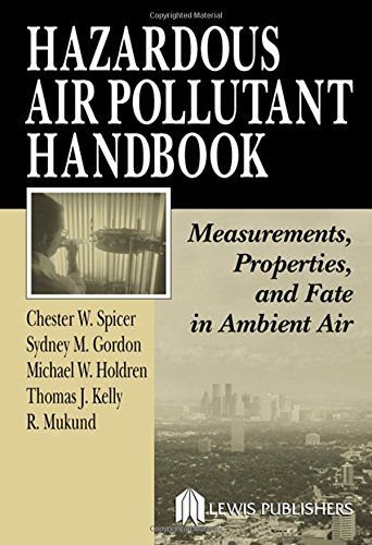 Hazardous Air Pollutant Handbook: Measurements, Properties, And Fate In Ambient Air