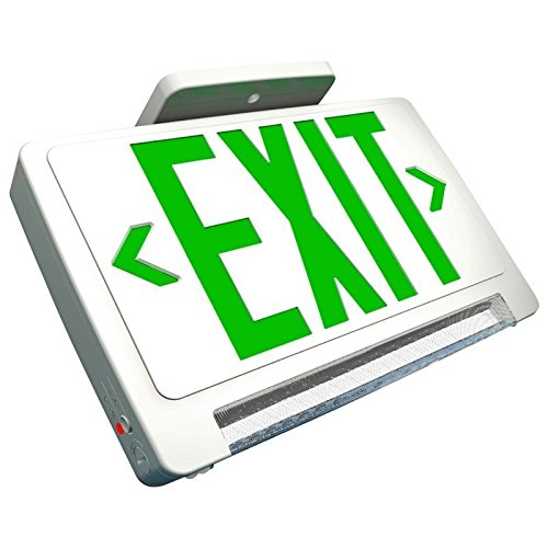 Super Bright Green Exit Sign Combo with LED Pipe
