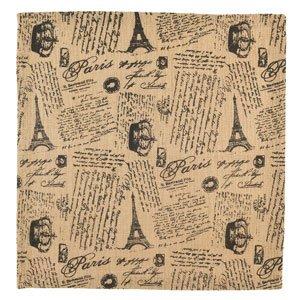 18-in Square Paris French Script Burlap Table Square