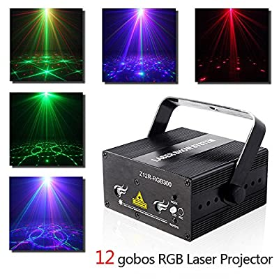 Decolighting Professional Stage Laser Lights Sound Activated Laser Projector with Remote Control