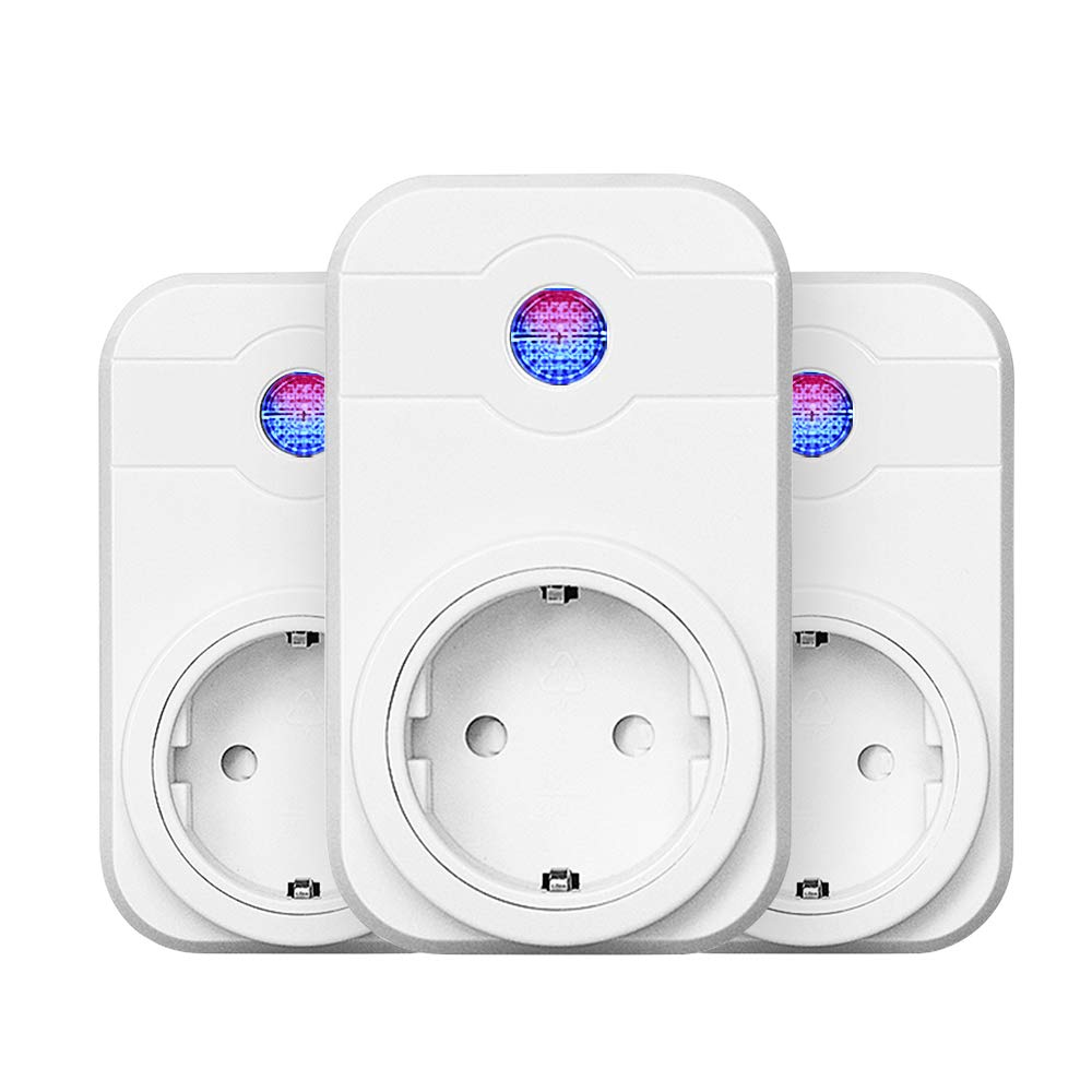 3-Packs Wifi Steckdose Horsky Smart Home intelligente Steckdose kompatibal mit  Alexa/Echo/Echo Dot und Google Home mit Timer-Funktion fü r Zuhause und Bü ro kein Hub erforderlich