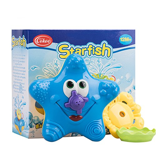 Bath Toys for Kids,Cikoo Swimming Pool Toys,Baby Floating Bathtub Sprayer Starfish Squirt Starfish Baby Float