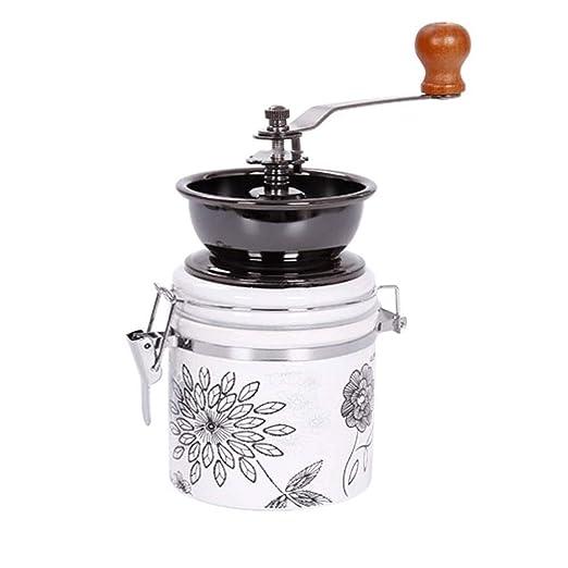 ZSLLO Molinillo de café Manual Molino de cerámica Molino de Mano ...