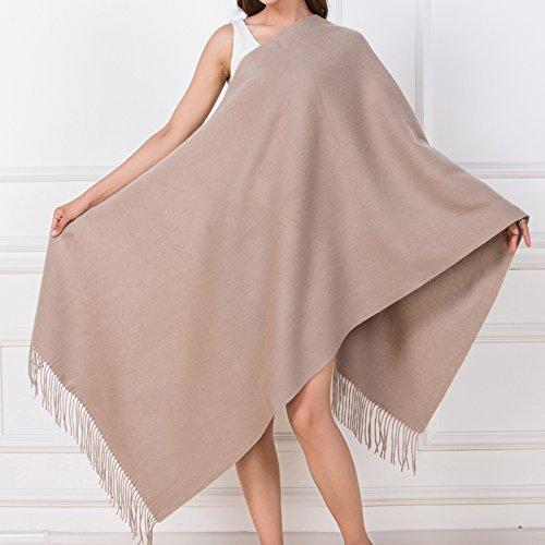 Dididd Scarf Ladies Winter Wool Scarf Thickened Warm Fleece Shawl D