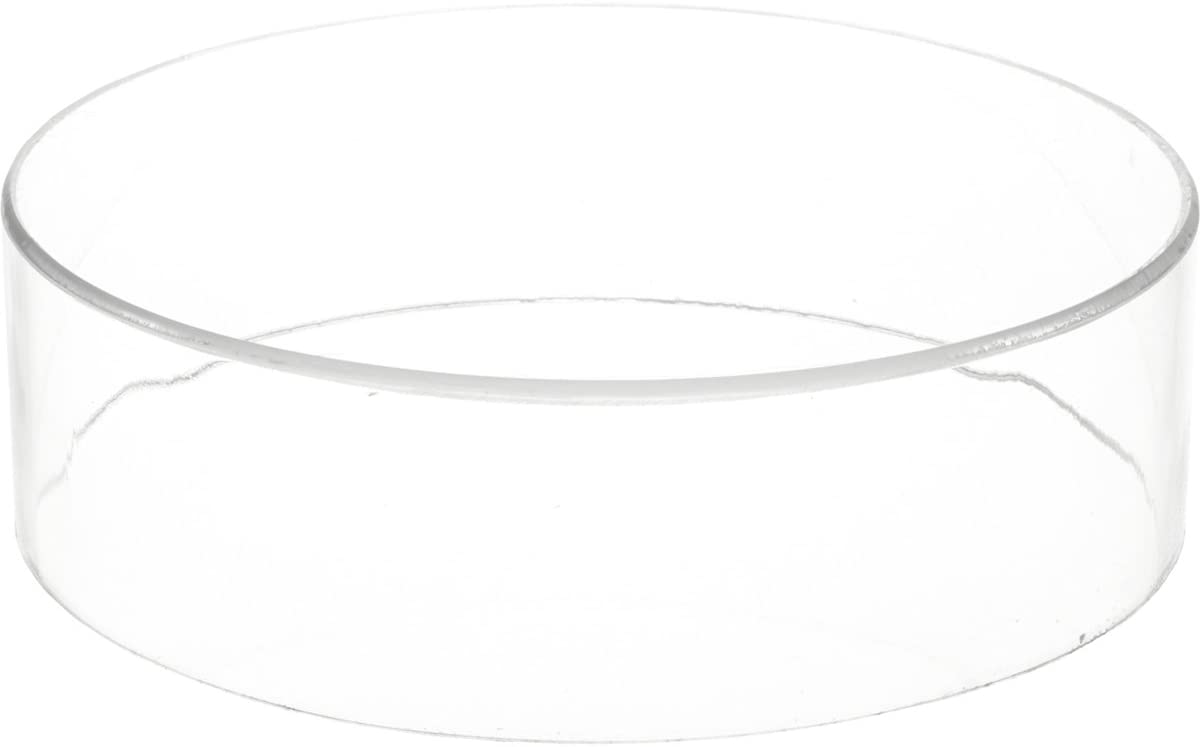 Plymor Clear Acrylic Round Cylinder Display Riser, 3 inches (Height) x 10 inches (Depth)
