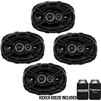 Kicker DSC6930 6x9-Inch (160x230mm) 3-Way Speakers, 4-Ohm bundle