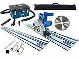 Scheppach PL55 Plunge Saw & HD2P Extractor Package - 1.4m rails + 48z blade