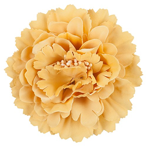 Multi Petal Flower with Pin and Clip - Mustard OSFM