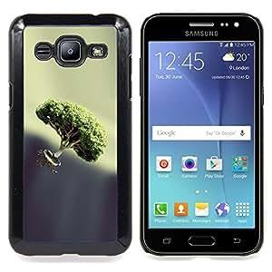 "Qstar Arte & diseño plástico duro Fundas Cover Cubre Hard Case Cover para Samsung Galaxy J2 / J200 (Bonsai Float"")"