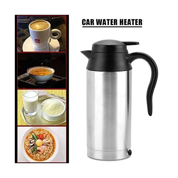 517t%2BwFYIsL 750ml Auto Elektrische Wasserkocher,Edelstahl 24V Zigarettenanzünder Thermobecher Wasserbecher für Wasser Kaffee…