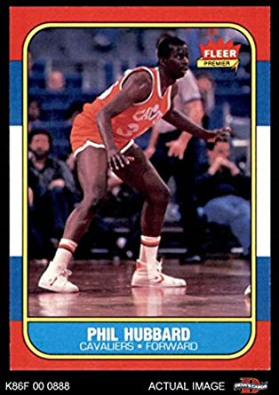 6fa075369 1986 Fleer   48 Phil Hubbard Cleveland Cavaliers (Basketball Card) Dean s  Cards 8 -