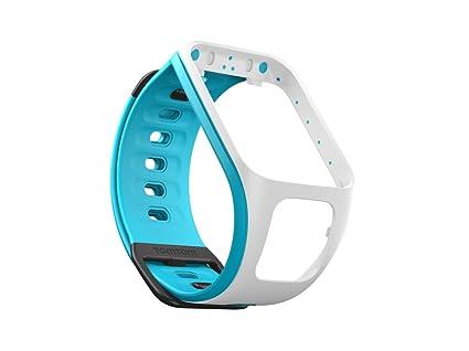 TomTom Runner 2/Correa para reloj Spark (blanco/azul claro - pequeña) - accesorios para relojes deportivos (Azul, ...