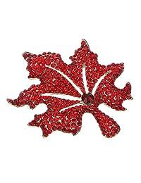 MagiDeal Autumn Maple Leaf Brooch Pin Fashion Broach Bridal Fashion Wedding Party Jewelry