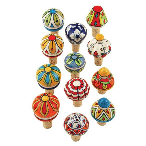 Twine 2352 bulk Country Cottage Assorted Ceramic Stoppers One size Multicolored